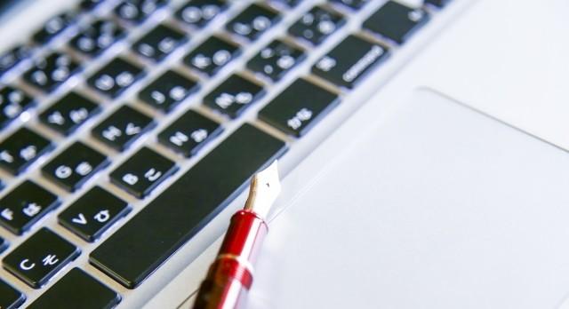 キーボードと万年筆